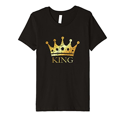 Price comparison product image Kids Royal Golden Crown King T-Shirt (Ancient Gold) 12 Black