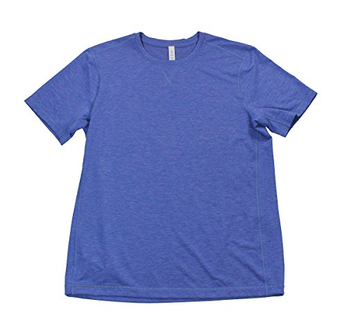 Lululemon Heathered Harbor Blue T.H.E. Crew - Lululemon Running Shirt