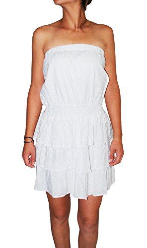 Strapless Cotton Eyelet Dress - 5