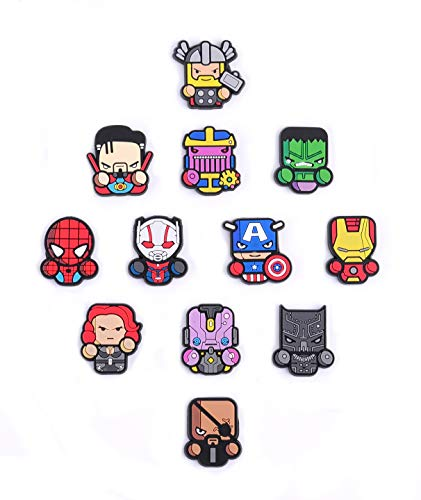 Exclusive Avengers Refrigerator Magnets-Marvel Heroes - Set of 12 Marvel Characters-Infinity war]()