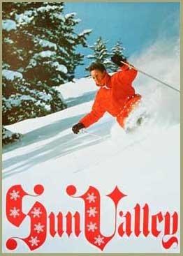 Sun Valley Powder Skiing 1960s Original Ski Poster