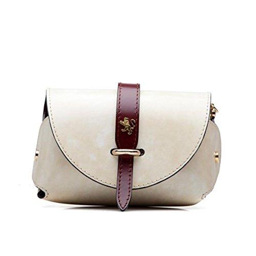 Pratesi Buonconvento borsetta da donna in vera pelle - R331 Radica (Nero) Panna