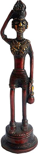 KVR brass indian handmade artistic gifts statue replica give away (Tribal Lady - 3)