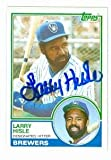 Larry Hisle autographed baseball card (Milwaukee Brewers) 1983 Topps #773