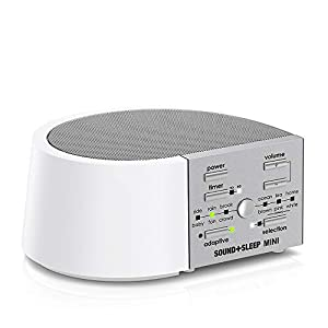 Sound+Sleep Mini Global Power High Fidelity Sleep Sound Machine with AC and Battery Power, Real Non-Looping Nature Sounds, Fan Sounds and White Noise