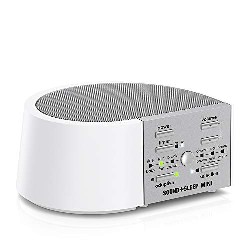Sound+Sleep Mini Global Power High Fidelity Sleep Sound Machine with AC and Battery Power, Real Non-Looping Nature Sounds, Fan Sounds and White Noise (Fireplace High Definition)