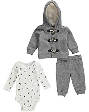 Carter's 3pc. Hoodie and Pants Set with Bodysuit