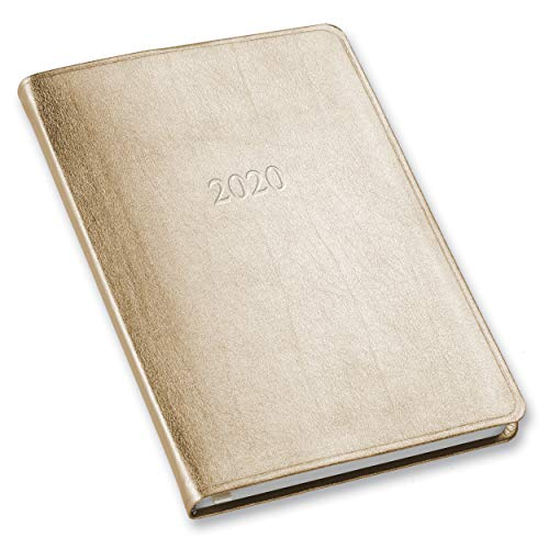 Leather Weekly - 2020 Gallery Leather Desk Weekly Planner Metallic Gold 8