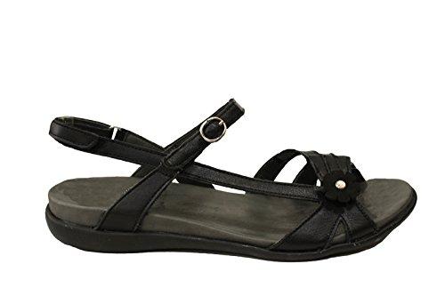 BENVADO Doride nero sandalo regolabile fiore