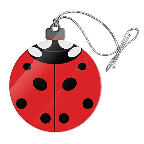 GRAPHICS & MORE Lady Bug Ladybug Insect Acrylic Christmas Tree Holiday Ornament