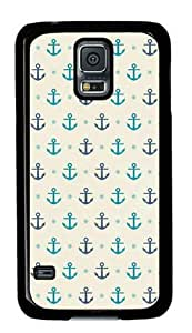Miracaly Lots of Anchors Samsung Galaxy S5 Black Sides Hard Shell Case