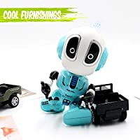 Blue GMAXT Robot Toy Imitating The Talking R11 Robot Toys Robot Kids with LED Lighting Will Be a Good Partner for Children to Grow Up