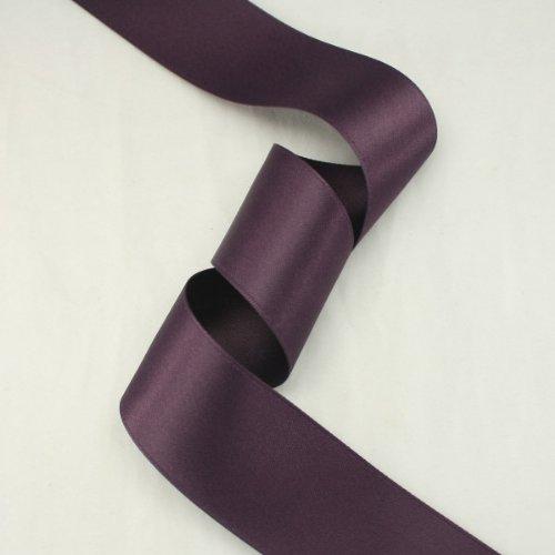 - Aubergine satin ribbon - 5 yards of 36mm (1.5