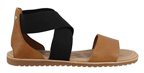 Camel Open Sandals Ella Women's Sorel Toe Brown wq0vXnF