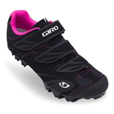 Giro Women's Riela Mountain Bike Shoe - Black/Rhodamine-Red - 41