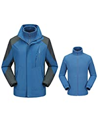 Dnstar Men's 3in1 Winter Coats with Hoodie Ski Snowboard Jackets
