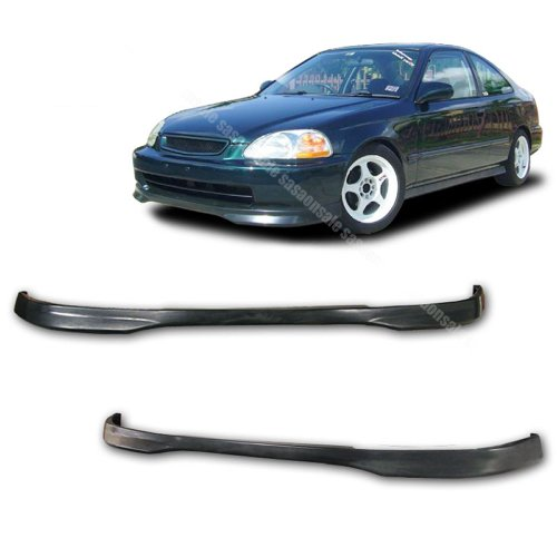 Civic Type R Front Bumper - NEW - 96 97 98 Aftermarket Made HONDA CIVIC 3/2/4dr TYPE-R Front PU Bumper Add on Lip