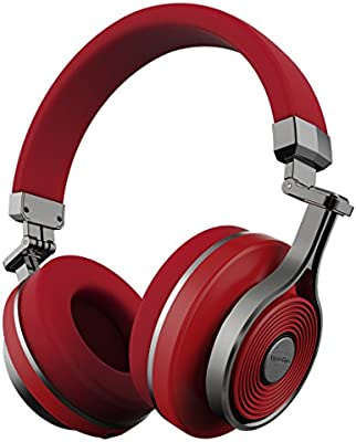 fa9e835c117 Bluedio T3 (Turbine 3rd) Extra Bass Wireless Bluetooth 4.1 Stereo Headphones  (Red): Amazon.co.uk: Musical Instruments