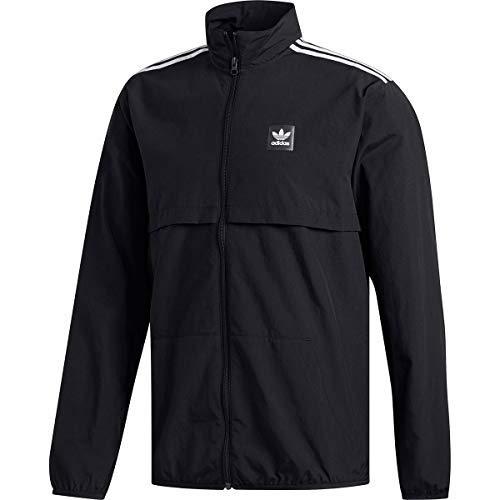 Crew Jacket Track (adidas Class Action Jacket - Men's Black/White, L)