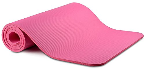 "Yoga Mat All Purpose 72""L X 24""W X 1/2 Inch Extra Thick High Density Anti Tear Exercise Yoga Mat with Carrying Strap"