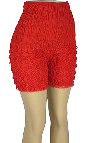 Malco Modes Womens Ruffle Panties Bloomers Dance Bloomers for Sissy Victorian (XXL, Red) -