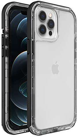 LifestylesProof Next Series Case for iPhone 12 Pro Max - Black Crystal (Clear/Black) (77-82557)
