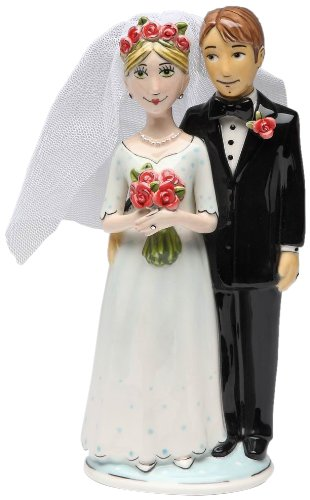 Appletree Design Bride and Groom Cake Topper, 7-3/8-Inch
