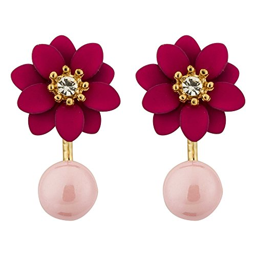 Shimmer Divine Exclusive AD Floral Design Earrings For Women/Girls