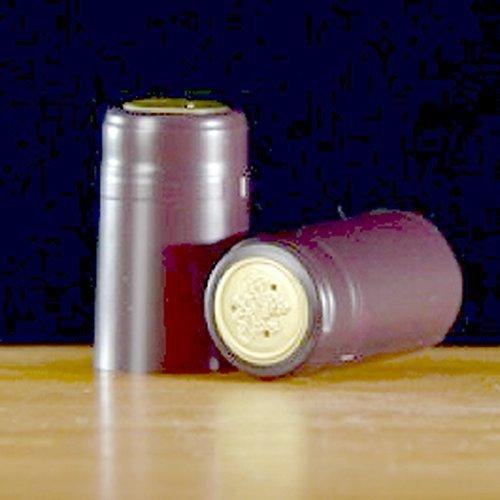 Burgundy Foil (Heat-Shrink Wine Bottle Capsules (Burgundy, Matte), 100 Count)