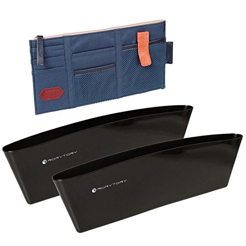 RoryTory Car Organizing Kit: (1) Visor Caddy + (2) Side Seat Pockets Organizers (Side Of Car Seat compare prices)