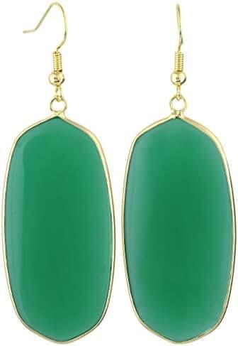 SUNYIK Women's Stone Crystal Dangle Drop Earrings Teardrop/Oval