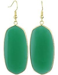 Women's Stone Crystal Dangle Drop Earrings Teardrop/Oval