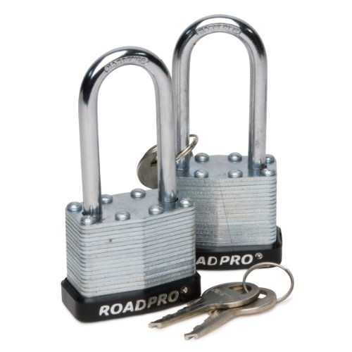 [Roadpro RPLS-40L/2 40mm Laminated Steel Padlock with Bumper Guard and 2