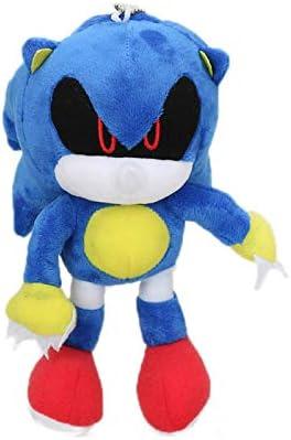 zcm Juguete de Peluche 18cm 7 Llavero De Peluche Juguetes Metal Sonic Muñeca Rellena Super Sonic Shadow Knuckles Tails Dolls