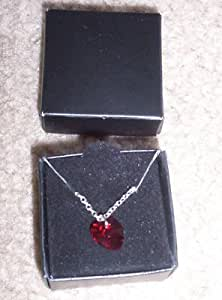 Avon Heart Necklace with Crystallized Swarovski Elements - Red
