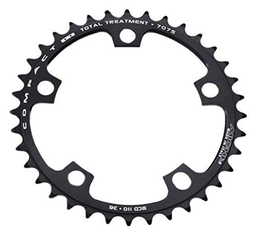 Color Negro Miche PL11042EXT-Plato para Bicicleta 110 mm