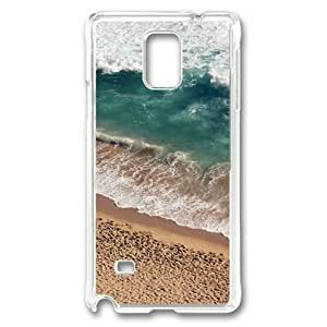 Note 4 Case,Galaxy Note 4 Case,Beach Wave Coast Nature Sea Water Summer Case for Samsung Galaxy Note 4 PC Material Transparent