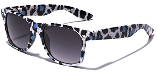 Animal Print Sunglasses - Children Colorful Animal Print Wayfarer Sunglasses Age 6-14 - White & Blue