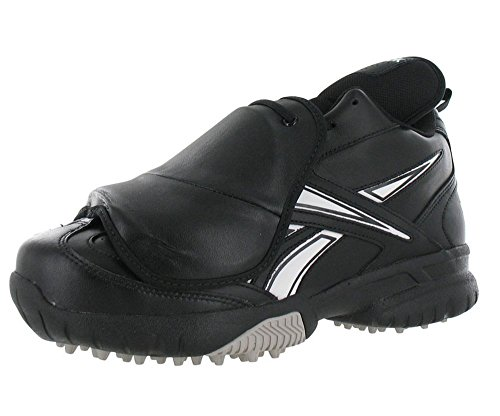 Reebok Mens Field Magistrate II Pl Mid Baseball Plate Guard Umpire Turf Shoe in Black and White (8 4E)