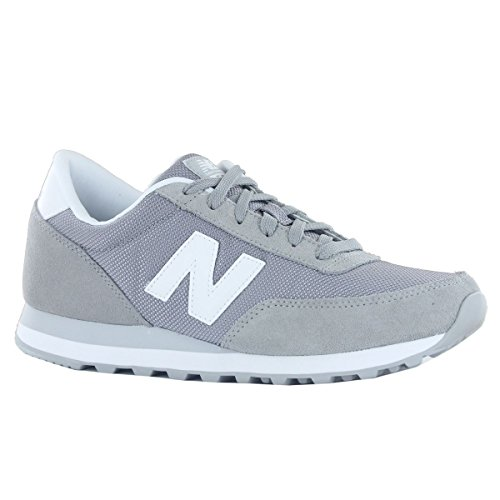 New Balance Classics Traditionnels Grey White Mens Trainers - ML501GGW Grau Weiß