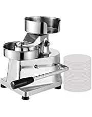 Commercial Hamburger Press Patty Maker Machine for Large Stuffed Burgers with 500 Wax Papers BBQ Grill Burger Press Tool