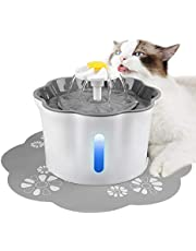 Seemo Pet Fountain with Water Filter for Cat Dog Water Drinking,2.6L Electric Automatic Pet Fountain for Healthy and Hygienic with 1 Carbon Filter and 1 Large Silicone Mat
