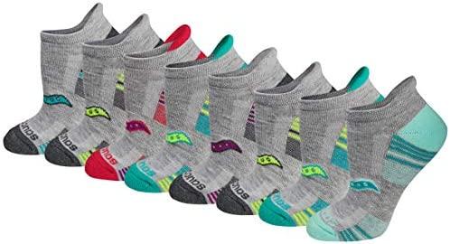 Saucony Women's Performance Heel Tab Athletic Socks (8 & 16 Pairs)