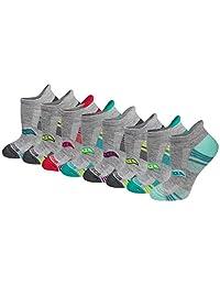 Saucony womens Performance Heel Tab Athletic Socks (8 & 16 Packs) Running Socks