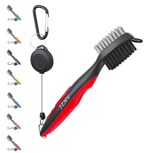 - JZHY Golf Club Brush and Club Groove Sharpener Cleaner Tool Set with 2 Ft Retractable Zip-line and Carabiner, Great Golf Gift, A Must Have Kit for Golf Club Bag Accessories