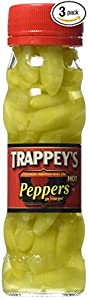 Trappeys Peppers in Vinegar, Hot, 4.5 oz by Trappey's