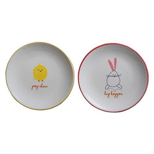 (TAG Chick & Hip Hopper Appetizer Plates, Set of 4)