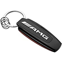 original Mercedes-Benz, Key ring, model series AMG stainless steel / carbon fibre, black / silver-coloured / red