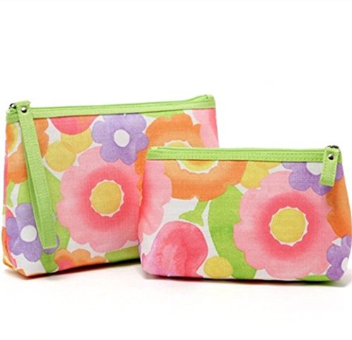 Clinique Floral Cosmetic Bags (2 Pieces)