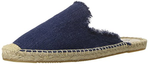 Soludos Women's Frayed Mule, Dark Denim, 7 B (Denim Mules)